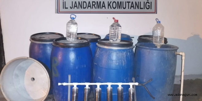 Adana'da 1500 litre sahte içki ele geçirildi