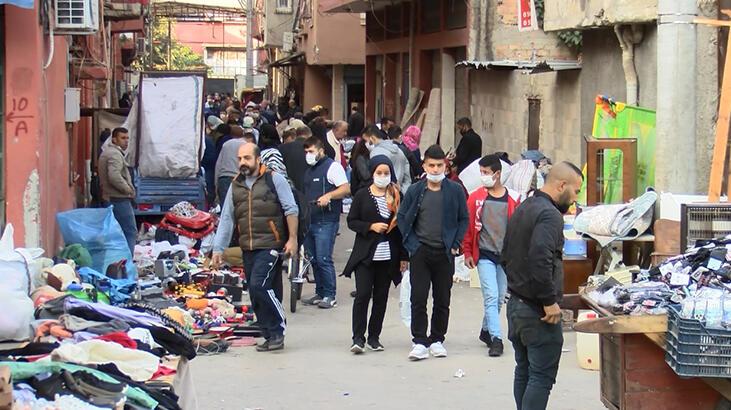 Adana'da bit pazarında koronavirüse davetiye çıkardılar!