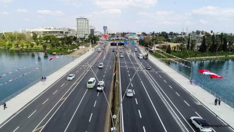 Girne Köprüsü genişletildi, 5 şeritli yol 10 şeride çıkarıldı