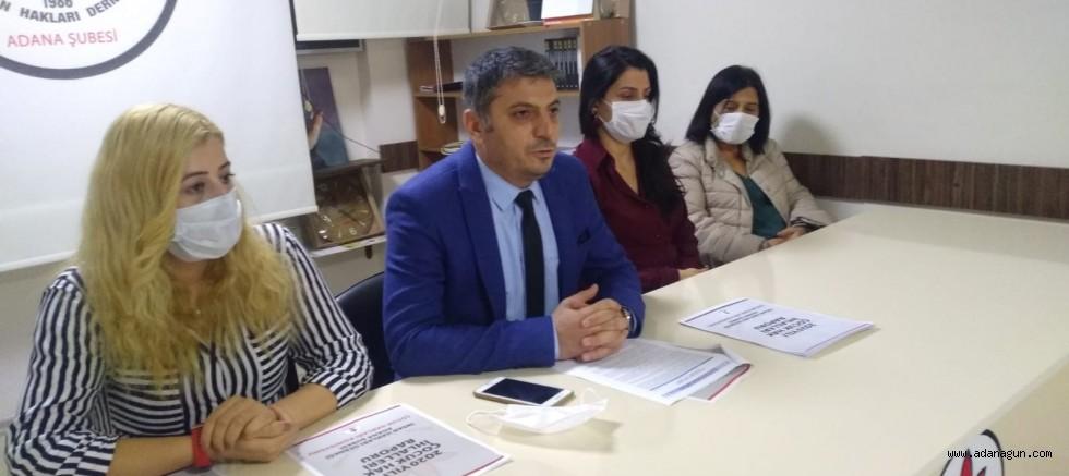 İHD Adana'da yaşanan çocuk hak ihlalleri raporunu açıkladı