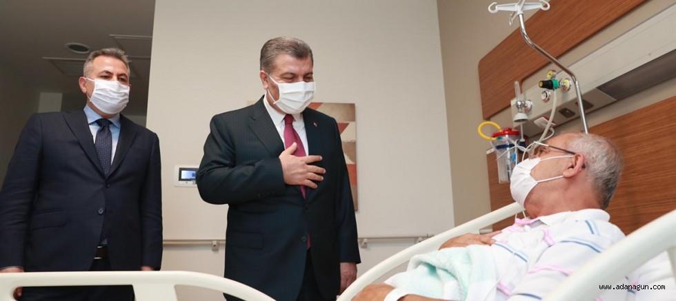 SAĞLIK BAKANI DR. FAHRETTİN KOCA'DAN ADANA ŞEHİR HASTANESİNE ZİYARET