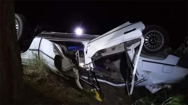 Şarampole yuvarlanan otomobildeki çifti ölüm ayırdı