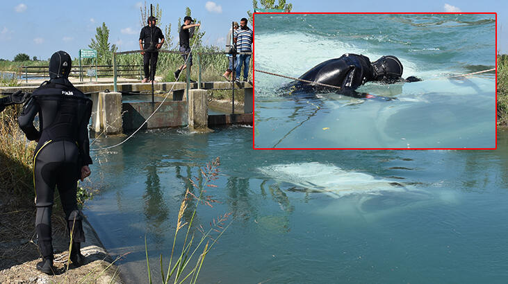 Sulama kanalına devrilen araçta 2 kişinin cesedine ulaşıldı